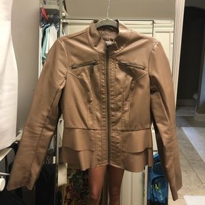 NY & C   Tan Leather Jacket